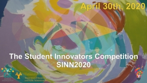 Student Innovators Competition SINN2020 - Cancellation