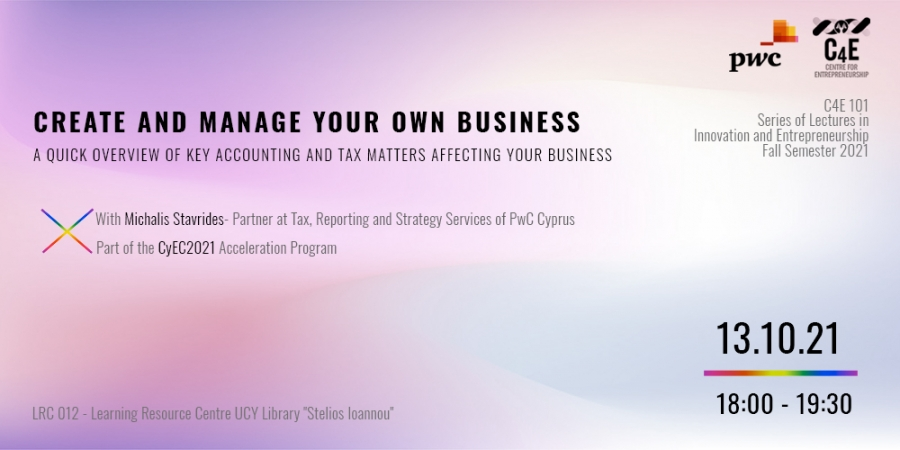 [13 Oct] Create and Manage your own Business
