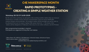 [30 Oct] C4E Makerspace Month: Rapid Prototyping - Creating a simple weather station