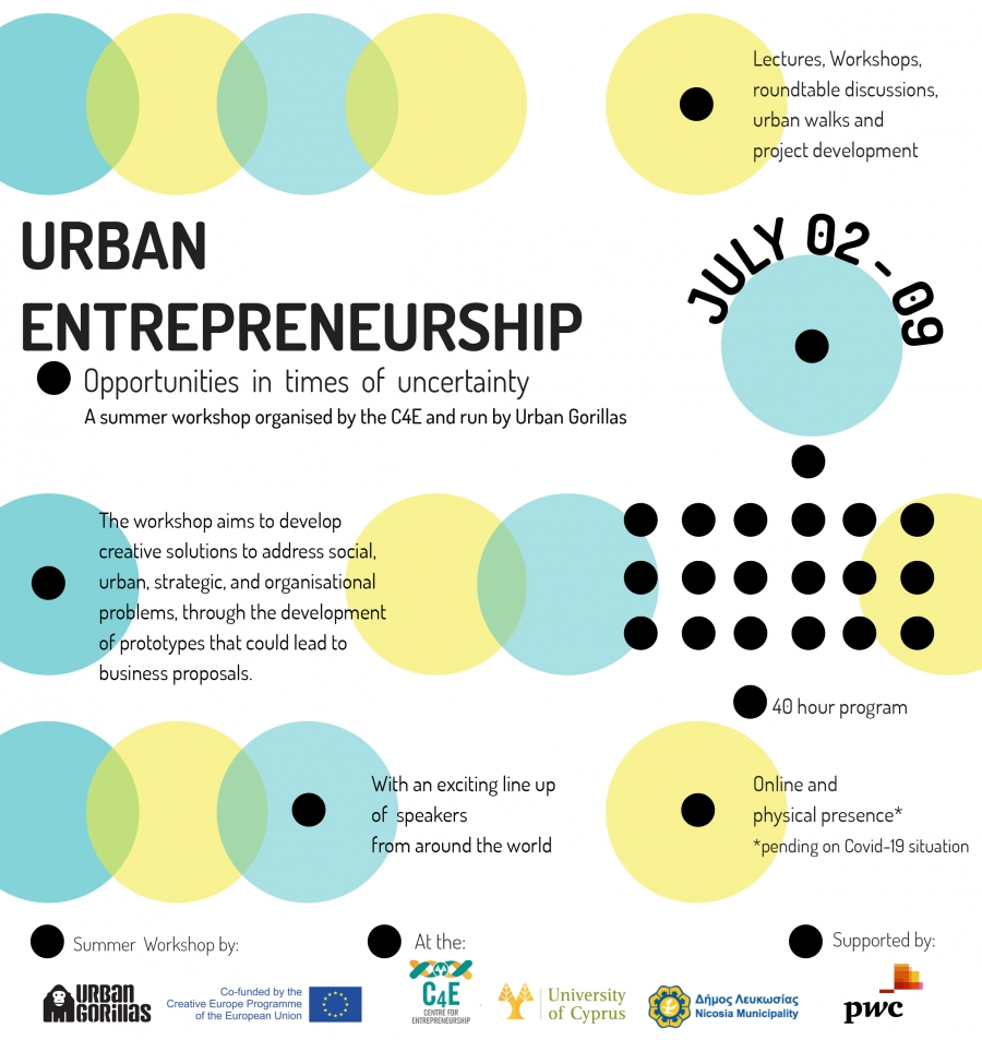 [02 July] C4E 104: 'Urban Entrepreneurship: Opportunities in times of uncertainty'