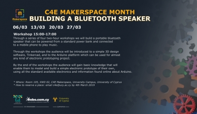 [06-27 Mar] C4E Makerspace Month: Building a bluetooth speaker