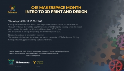 C4E Makerspace Month: INTRO TO 3D PRINT AND DESIGN (2)