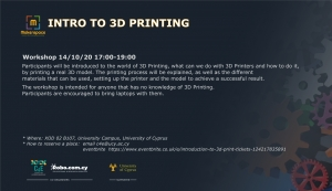 [14 Oct] Intro to 3D Print
