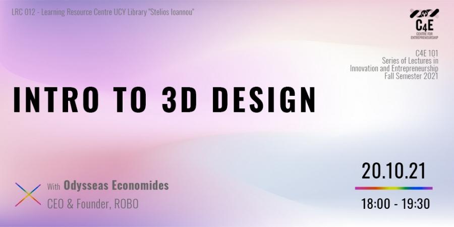 [27 Oct] Intro to 3D Design