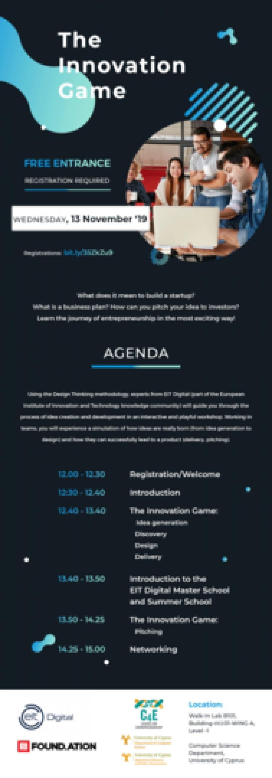 [13 Nov] 'The Innovation Game': Business Modelling Workshop on Idea Generation and Startup Creation
